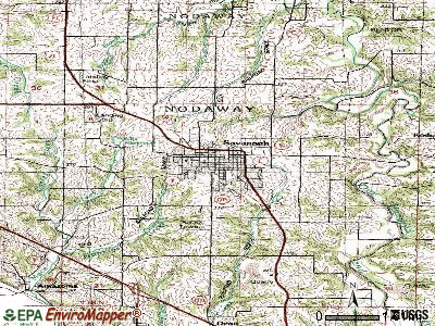 Savannah topographic map