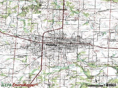 Sedalia topographic map