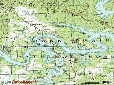 Shell Knob topographic map