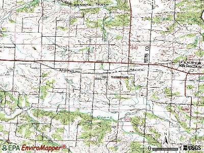 Smithton topographic map