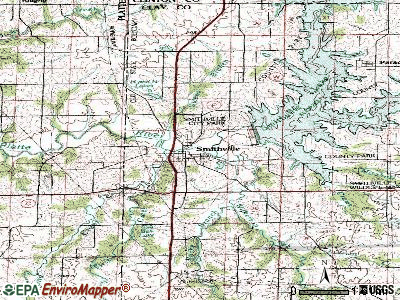 Smithville topographic map
