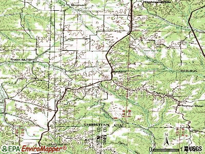 Spokane topographic map