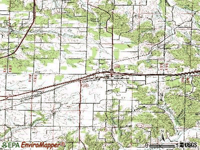 Strafford topographic map