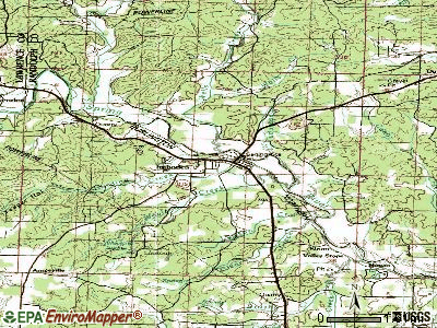 Imboden topographic map
