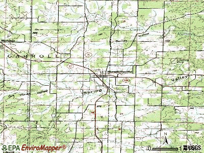 Summersville topographic map