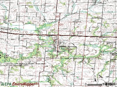 Sweet Springs topographic map
