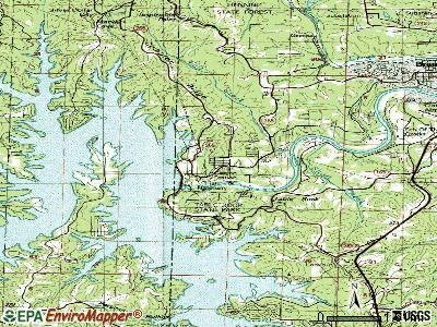 Table Rock topographic map