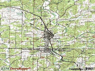 Thayer topographic map