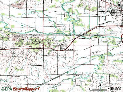 Utica topographic map