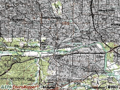 Valley Park topographic map
