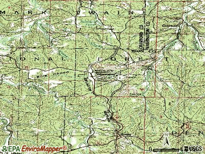Viburnum topographic map