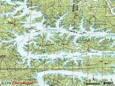 Village of Four Seasons topographic map