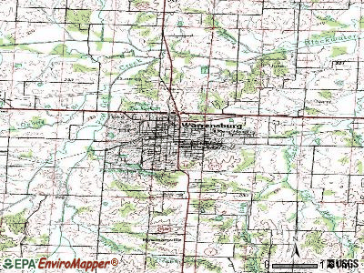 Warrensburg topographic map