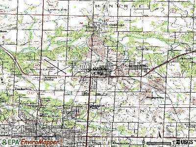 Webb City topographic map