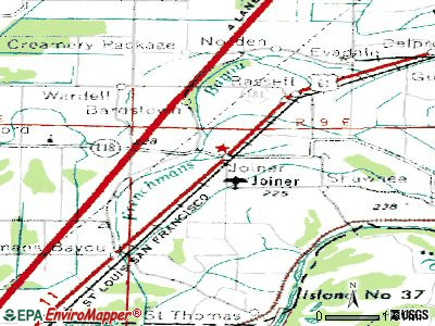 Joiner topographic map