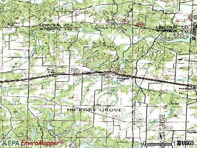 Wright City topographic map