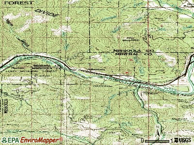 Alberton topographic map
