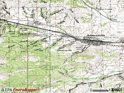 Anaconda-Deer Lodge County topographic map