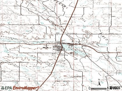 Baker topographic map