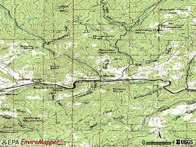 Basin topographic map