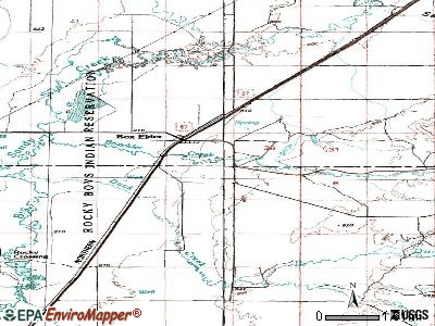 Box Elder topographic map