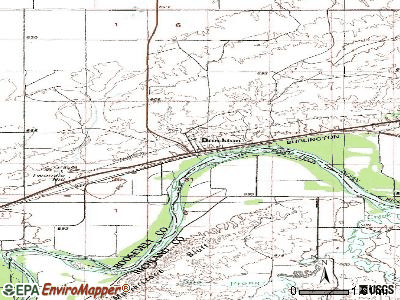 Brockton topographic map