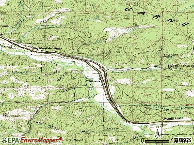 Clancy topographic map