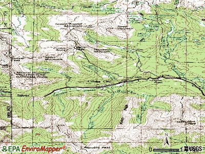 Cooke City-Silver Gate topographic map