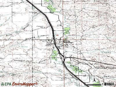 Crow Agency topographic map