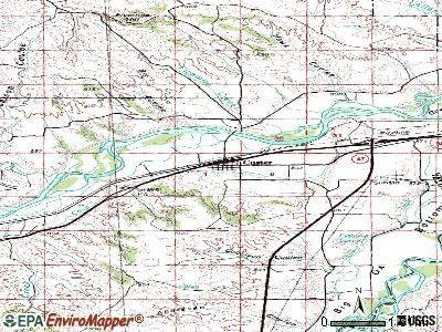 Custer topographic map