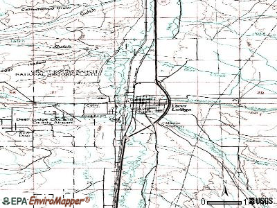 Deer Lodge topographic map