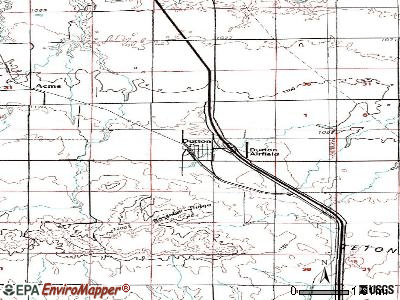 Dutton topographic map