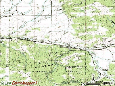 Elliston topographic map