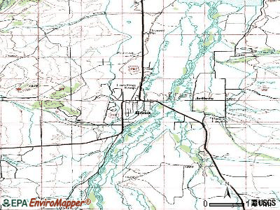 Ennis topographic map