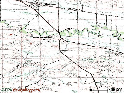 Fort Belknap Agency topographic map