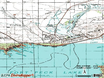 Fort Peck topographic map