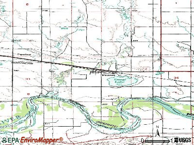 Frazer topographic map