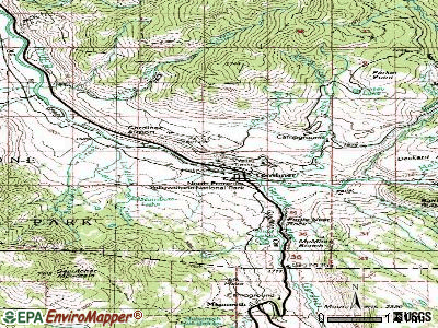 Gardiner topographic map
