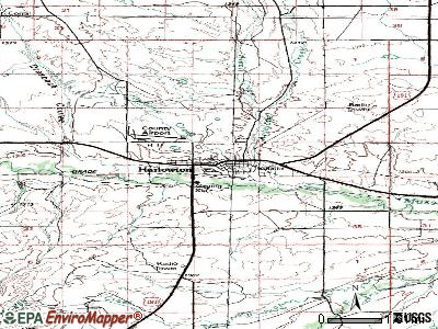 Harlowton topographic map