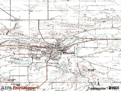 Havre North topographic map