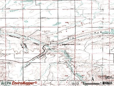 Highwood topographic map