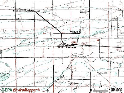 Hobson topographic map