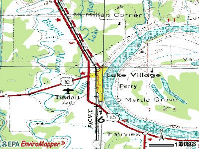 Lake Village topographic map