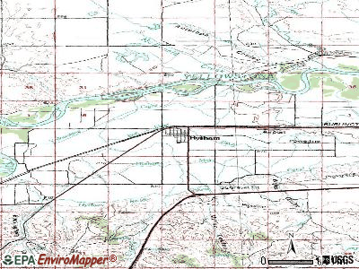 Hysham topographic map
