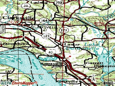 Lamar topographic map