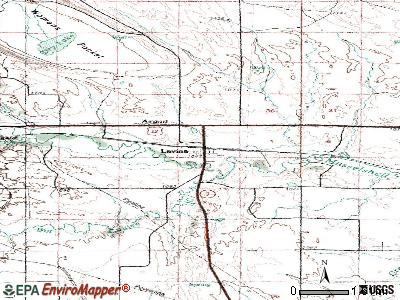 Lavina topographic map