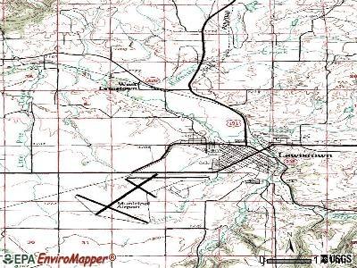 Lewistown Heights topographic map