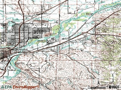 Lockwood topographic map