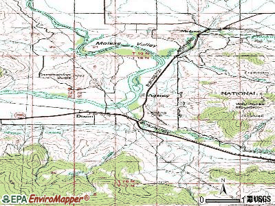 Noxon topographic map