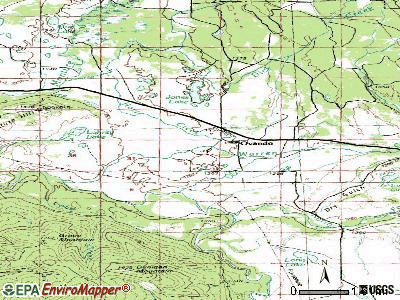 Ovando topographic map